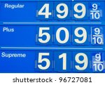 Gas Price Sign - stock photo