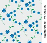 floral textile pattern with... | Shutterstock .eps vector #96728125