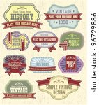 vector set vintage labels | Shutterstock .eps vector #96729886