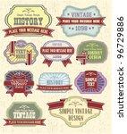 vector set vintage labels | Shutterstock .eps vector #96729886