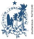 surf stamp with grunge summer... | Shutterstock .eps vector #96731140