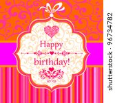 Birthday Card. Celebration ...
