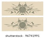 vikings. long frames  vector | Shutterstock .eps vector #96741991