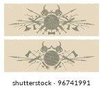 vikings. long frames  vector | Shutterstock .eps vector #96741991