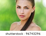 portrait of charming  young ... | Shutterstock . vector #96743296