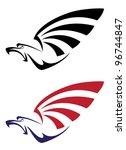 illustration of a set eagle | Shutterstock .eps vector #96744847