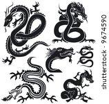 dragons set | Shutterstock .eps vector #9674590