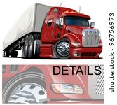 vector cartoon semi truck. one...   Shutterstock .eps vector #96756973