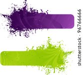 Two Grunge Banner In Purple An...