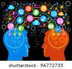 social network  communication... | Shutterstock .eps vector #96772735