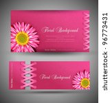 vector set of pink with flowers ... | Shutterstock .eps vector #96773431