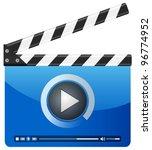 movie clapper board on a white... | Shutterstock .eps vector #96774952