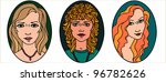 three female portraits   Shutterstock . vector #96782626