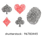 playing card symbols as... | Shutterstock . vector #96783445