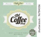 retro vintage coffee background | Shutterstock .eps vector #96784336
