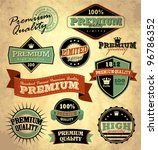 collection of premium quality... | Shutterstock .eps vector #96786352