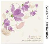 Stock vector vintage flower background vector illustration 96786997