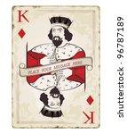 vintage king of diamonds ...   Shutterstock .eps vector #96787189