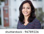 portrait of happy young indian... | Shutterstock . vector #96789226