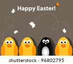 vector easter greeting card | Shutterstock .eps vector #96802795