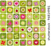 abstract springtime colorful... | Shutterstock .eps vector #96814981