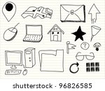 hand draw web icon | Shutterstock .eps vector #96826585