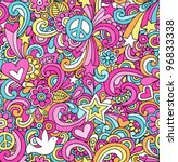 seamless pattern psychedelic... | Shutterstock .eps vector #96833338