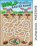 a fun easter game for children. ... | Shutterstock .eps vector #96835048