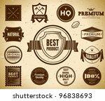 set of premium quality labels | Shutterstock .eps vector #96838693