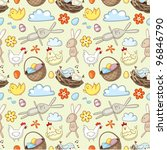 decorative easter pattern with...   Shutterstock .eps vector #96846790