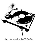 stencil turntable | Shutterstock .eps vector #96853606