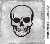 vector evil human skull for... | Shutterstock .eps vector #96861469