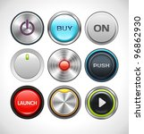 Vector Buttons Set for Web and Mobile