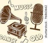 old grunge instruments over... | Shutterstock .eps vector #96863662
