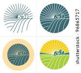 village landscape label  badge. ... | Shutterstock .eps vector #96865717