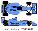 1990 formula car | Shutterstock .eps vector #96865789