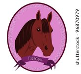 horse zodiac   cancer | Shutterstock .eps vector #96870979