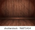 room covered with wooden planks.... | Shutterstock .eps vector #96871414