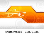 illustration of futuristic background with arrow and technology - stock vector
