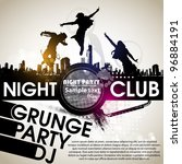 grunge banner with an inky... | Shutterstock .eps vector #96884191