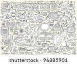 notebook doodle speech bubble... | Shutterstock .eps vector #96885901