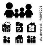 family icons | Shutterstock .eps vector #96895201