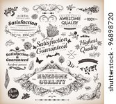 calligraphic design elements... | Shutterstock .eps vector #96898720
