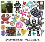 mix of different vector images...   Shutterstock .eps vector #96898876