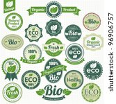 eco and bio labels collection | Shutterstock .eps vector #96906757