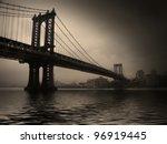 NYC Bridge - stock photo