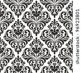damask wallpaper  black and... | Shutterstock .eps vector #96923801