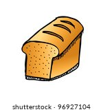 western bread food with color   ... | Shutterstock .eps vector #96927104