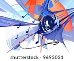 grunge music background | Shutterstock . vector #9693031