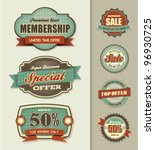 set of sale labels | Shutterstock .eps vector #96930725